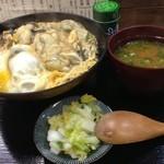 そば処 まる栄 - 広しま丼(味噌汁、香物付き)