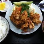 勝美軒 - 唐揚定食900円