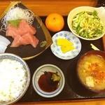 こし乃 - やっと、お昼ご飯!!中とろ定食!! 15分で食べなくちゃだわー!!