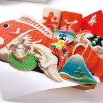 梅かま - 山の結婚式の引き出物といえば飾り・細工かまぼこのかご盛り