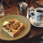 高木珈琲店 - フルーツたっぷりシナモントースト(秋冬限定)とブレンドコーヒー