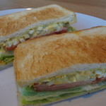 マザーリーフティースタイル - たまご野菜サンド (2013年1月)