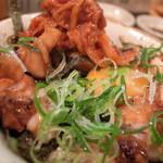 串焼 かしわや - 鶏キムチ丼のミニ