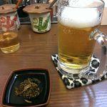 風風ラーメン - まずは生ビールいきます!