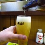 大統領 - キリンラガー580円(グラスはアサヒ(笑))