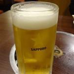 味楽 - 生ビール:550円