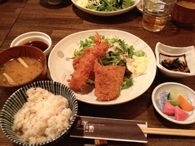 郷酒 - 日替わりフライ定食