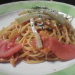 17114421 - モッツァレラチーズのトマトクリームスパゲッテイ