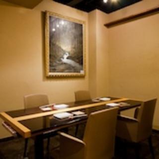 落ち着いた個室で大人の会食を。2〜22名様まで御利用可能。