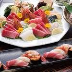 寿司割烹 八風 - 料理の一例
