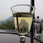 17118444 - 食前酒の中には由布岳が見えます