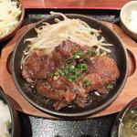 アケボノヤ 四谷本店 - ランチ 牛ハラミ鉄板焼