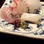 日本料理雲海 - 【天麩羅御膳】瀬戸内のお刺身盛り合わせ。