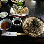 報徳庵 - 天ざる大盛り(1,250+150=1,400円)