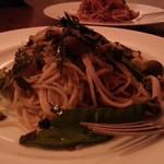 CAFE ALFEE - 料理写真:高菜とちりめんじゃこの和風パスタ