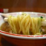 たんぽぽ - 四川ラーメン[普通] 840円                             麺を持ち上げるのが重い!(笑)