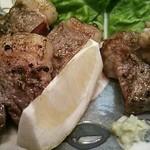 小料理 一心 - 牧場直送のラム肉ステーキ