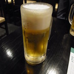 鳥こまち - 生ビール(中)、450円