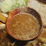 麺匠 双葉 - 特選赤味噌ラーメン(750円)こってりスープ