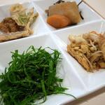 沖縄食彩 あじまあ - てんぷら、シブインブシー、ニガナ、麩イリチー@2013-01