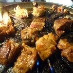焼肉の井筒屋 - ニクテキ調理中