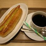 cafe Copana - モーニング マスタードドッグセット