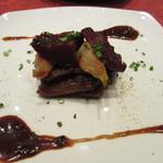 ル・プレヴェール - 豚バラ肉のブレゼ ジャスミン風味、ビーツと蕪の蜂蜜かけ添え