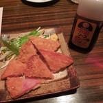 のぶちゃん - ハムカツ380円 H24.10