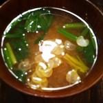 キッチン たくま - 味噌汁
