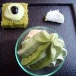 茶通仙 多田製茶 - 抹茶シフォン・抹茶あん包み・抹茶ソフトクリーム