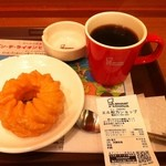 ミスタードーナツ - H.25.02.03. フレンチクルーラー126円+ブレンドコーヒー262円