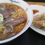 自然食品工房 戦国大名 - 料理写真:ラーメンセット(麺大盛)