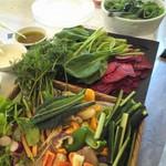 17149742 - ランチのスターター【AlbergoBambooの野菜畑】お野菜のワゴンサービス ☆5('12 10月)