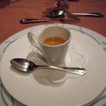 ボナキュー - 信州ポークの自家製ベーコンの洋風茶碗蒸し