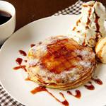 クアアイナ - パンケーキブリュレ パンケーキとクレームブリュレが一度に楽しめるデザート!!