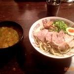 肉ばかラーメン なおじ - 2013/02/04 辛味噌つけ麺 サービスライス ¥680