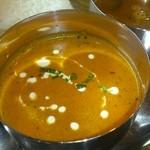 インド料理 夢や - エビとキーマのカレー(日替り)