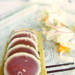 セリーズ by ゴードン・ラムゼイ - きはだ鮪の炙り焼き カルパッチョ仕立て フェンネル ラディッシュ ブラッドオレンジのサラダ添え ケッパードレッシング
