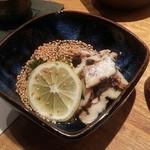 酒楽旬菜 風  - 穴子とキュウリの酢の物