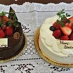 17178777 - チョコクリームデコレーションと生クリームデコレーション