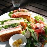 古民藝・参拾六番 森の中の古民家 ガーデンレストラン - クラブサンドイッチプレート