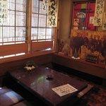 富士 - ここで食べました。写真は乃木大将とか。