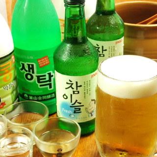 韓国酒 各種揃えております