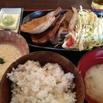 17193540 - 麦とろ豚ロースしょうが焼き定食(850円)