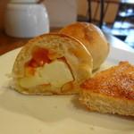 カフェむぎわらい - ミニパン①は伊予柑&クリームチーズ