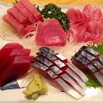 17195193 - マグロ三昧とシメ鯖