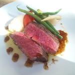 ボータン - 庄内牛イチボ肉のステーキ