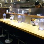 びっくり焼き亭 - カウンター席