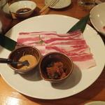 石垣島の焼肉屋 - アグー豚の焼きしゃぶ