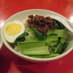 彩華 - 豚挽肉のそぼろかけご飯